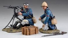 French Foreign Legion FFL016C Machine Gun set Gunner with Bandaged Head - Made by Thomas Gunn Military Miniatures and Models. Factory made, hand assembled, painted and boxed in a padded decorative box. Excellent gift for the enthusiast.