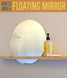 DIY Horizon Mirror   How To Make A DIY Floating Mirror Frame For Home Decor   diyready.com