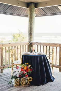 Colorful and Eclectic South Carolina Beach Wedding, Sweetheart Table