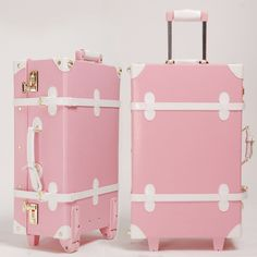 sacs roses | A7 Vintage travel bag trolley luggage pink white rose white multicolor ...