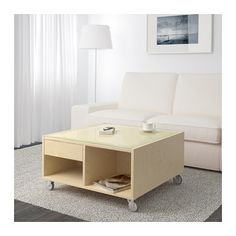 BOKSEL Coffee table - birch veneer - IKEA