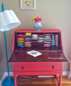 Gray Sky Sunshine: My new quilling paper storage and work station!