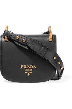 Prada | Pionnière leather shoulder bag | NET-A-PORTER.COM