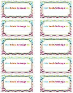 Free Printables for books