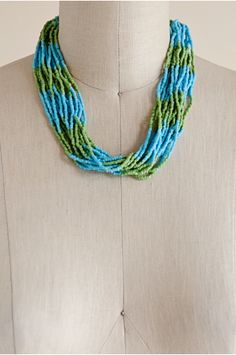 Riviera Beach Necklace | Blue & Green Necklace | Indonesia | shopgofish.com