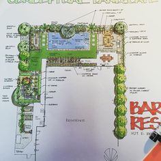 Just finished this design with pool in color this afternoon. Looking forward to sharing it with my clients! Design by Biomirage #pooldesign #waterfeature #landscapedesign #waterwiselandscapedesign #coloredlandscapeplan by waterwisewoman Creative backyard pool designs.