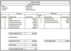 """Are you looking for """"Salary Slip Format in Excel""""? This post will help to solve issues of financial planning regarding maintaining employee's salary slip. Invoice Format In Excel, Microsoft Excel, Tax Deducted At Source, Payroll Template, School Fees, Chapter 16, Paper Book, Textbook"""