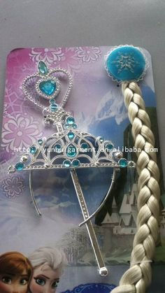 Hot sale!!! large stock Frozen Elsa and Anna Children Kids Girl Halloween christmas party gift Accessories baby girls Headwear Crowns +Magic Wand + Hairband + Hairpiece wigCrown Wigs Wands from http://yunhuigarment.en.alibaba.com