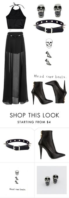 """Pinterest: @MagicAndCats ☾ """"Black Angel"""" by rebelsmarket-0 on Polyvore"""