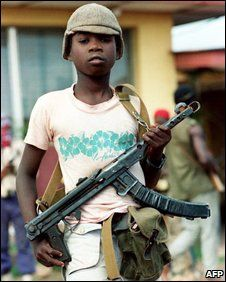 Child Soldiers..NO child (and adults) should have a gun, including western children!!