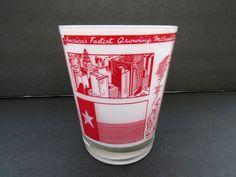 Vintage Houston Texas Jigger - Large Frosted Measuring Shot Glass - Houston Souvenir Landmarks - Guy Gift - Collectible - Man Cave Barware by shabbyshopgirls on Etsy