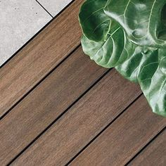 ResortDeck combines the natural beauty of a freshly oiled timber decking with the extra benefits of durability, dimensional stability and easy care properties. The core is recyclable materials: high density polyethylene and wood fiber Hardwood Decking, Timber Deck, Trim Board, Custom Made Furniture, Reduce Waste, Outdoor Ideas, Natural Beauty, Plant Leaves, Recycling