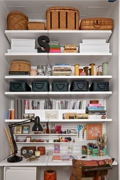 Delicieux Check Out This Before And After Office/craft Room Using Elfa From The  Container Store! | Elfa Office Shelving Solutions In 2018 | Pinterest |  Room, ...