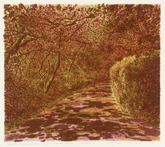 'Autumn' by Norman Stevens, Editioned at the Curwen Studio (lithograph on paper) Autumn Trees, Norman, Printmaking, Country Roads, Outdoors, Seasons, Colour, Landscape, Studio
