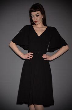 a1178d18360 Black Crepe Viva Dress by Laura Byrnes at UK Stockists