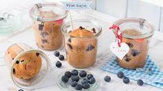 Rezept Kuchen im Glas / Blaubeermuffins im Glas