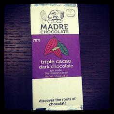 Award-winning artisan chocolate from Hawaii/ Madre Chocolate Triple Cacao