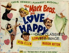 "MARX BROTHERS-GROUCHO ARE ""LOVE HAPPY"" MOVIE POSTER DANCING GIRL PINUP VALENTINE"