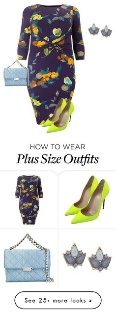 """""""plus size colorful diva"""" by kristie-payne on Polyvore featuring Studio 8, Christian Louboutin, STELLA McCARTNEY, Carolee, women's clothing, women, female, woman, misses and juniors"""