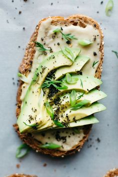 miso tahini avocado toast w/ black sesame gomasio | dolly & oatmeal