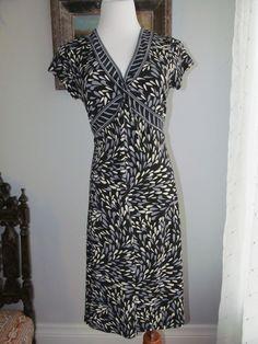 APT. 9 Multi-color Geometric Print Twist Front Polyester Blend Dress Size M #Apt9 #EmpireWaist #WeartoWork
