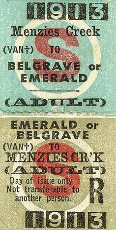 全部尺寸 | 1913 Puffing Billy Train Ticket0001 | Flickr - 相片分享!