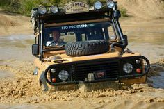Land Rover One Ten Station Wagon Diesel Turbo Camel Trophy 1989 in the Amazon, British Winning team vehicle at the Camel Trophy 35th Anniversary event September 2015