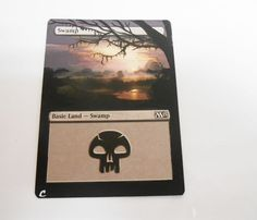MTG Altered Painted Swamp M15 #WizardsoftheCoast