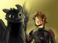 Toothless and Hiccup by mad-y.deviantart.com on @deviantART