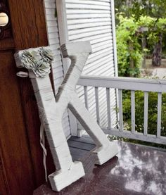 Diy Projects: I swear I need to make this. Maybe my husband can cut the K out of wood as a first step. Hint. Hint.