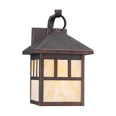 "$186 - 11x7"" http://www.destinationlighting.com/item/outdoor-wall-light-beige-cream-glass-antique-bronze-finish/P867179"