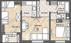 Фотография:  в стиле , Перепланировка, Анастасия Киселева, Максим Джураев, дом серии П-30, планировка двухкомнатной квартиры в панельном доме, как обустроить двухкомнатную квартиру в панельном доме, перепланировка двухкомнатной квартиры в доме серии П-30 – фото на InMyRoom.ru