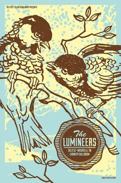 The Lumineers Concert Poster. $15.00, via Etsy.