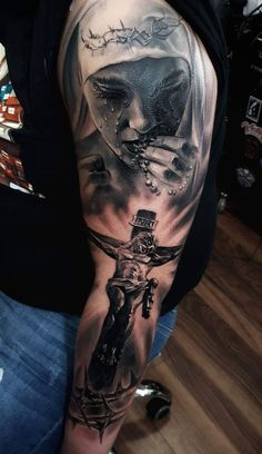 💍💕 # ωεεƭ 👑 # ρ૨ 🕌 🕌 # ɠ33🎥🎬 ∂αà ... Full Sleeve Tattoos, Leg Tattoos, Arm Band Tattoo, Body Art Tattoos, Tattoos For Guys, Cross Tattoo For Men, Cross Tattoo Designs, Tattoo Sleeve Designs, Cool Tattoos Pictures