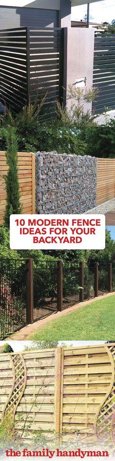 10 Modern Fence Ideas for Your Backyard