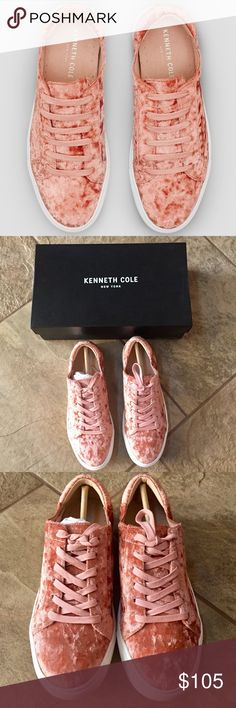 | new item | KENNETH COLE Kam Velvet Sneakers Color is called Rose, rubber sole with velvet upper, lace-up style, width considered an M. Kenneth Cole Shoes Sneakers
