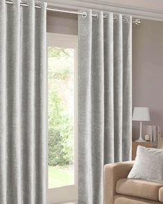 Balmoral Silver Ready Made Eyelet Curtains