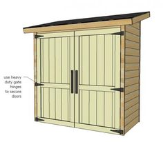 DIY Shed - may work for side of house storage.