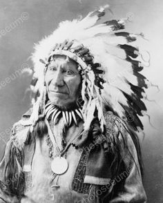 Native Indian Chief American Horse 1908 8x10 Reprint Of Old Photo Native Indian Chief American Horse 1908 8x10 Reprint Of Old Photo Here is a neat collectible of a wistful looking native Indian Chief