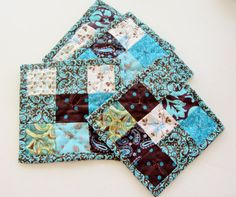 Quilted Coasters Patchwork Coasters are by purelysimpledesigns, $15.00
