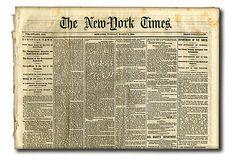 One Kings Lane - The Gift Closet - Civil War Original Newspaper