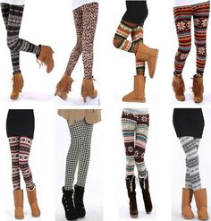 Sweater Leggings under $6. I think I need one of every pair..