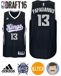 Men s 2016 NBA Draft Georgios Papagiannis Alternate Swingman Jersey 60b129cbb