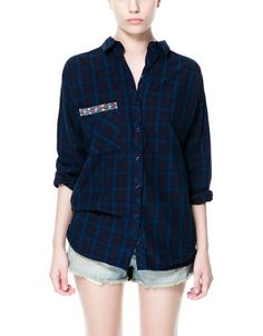 Chemise à carreaux fantaisie poche - Zara, 29€95