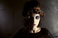 work by Anna Wong. Aveda Institute, Cosmetology, Special Events, Halloween Face Makeup, Photoshoot, Creative, Gothic, Anna, Bohemian