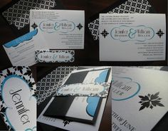 really interesting...Old Hollywood Glamour Meets Mod Wedding Invitation Design