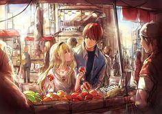 morning market - 50 Examples of Anime Digital Art  <3 <3