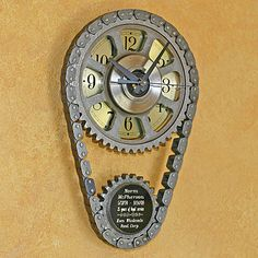 Car Part Sculptures | We also create custom engraved clocks, wall art and other furnishings ...