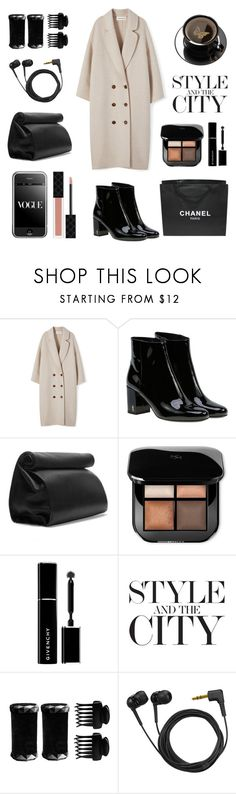 """Untitled #663"" by tenindvr ❤ liked on Polyvore featuring Yves Saint Laurent, Zara, Givenchy, Chanel, T3, Sennheiser and Gucci"