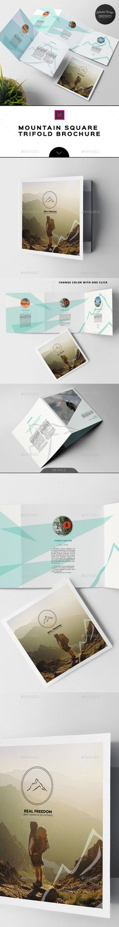 Mountains / Hiking Brochure by Kahuna_Design 70%OFF Limited time only!Mountain / Hiking Trifold BrochureThe brochure was designed as an universal template with original struct